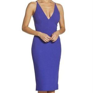 Dress The Population Lyla Blue Crepe Sheath Dress